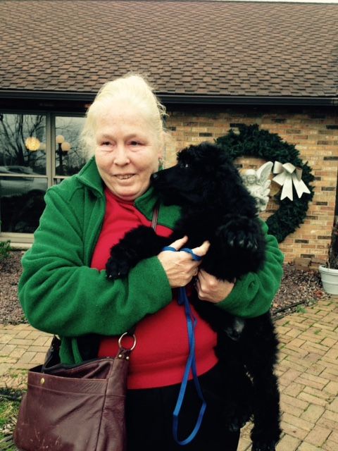 Mary and Ramsey now Remi. Remi will be trained as Mary's new guide dog.