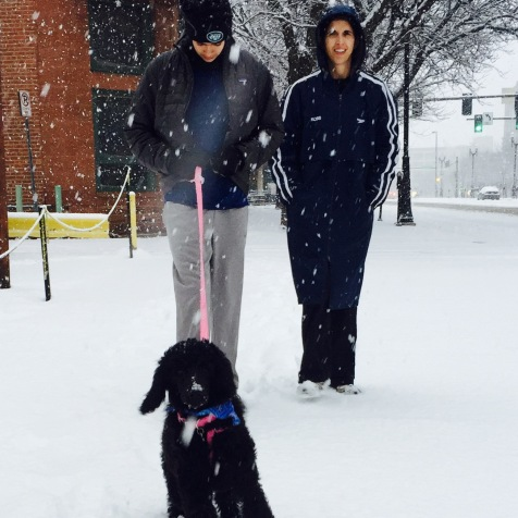 Roxy Dec. 2015 fun in the snow with her new forever Family.